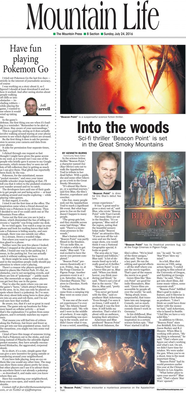 Beacon Point Mountain Press article